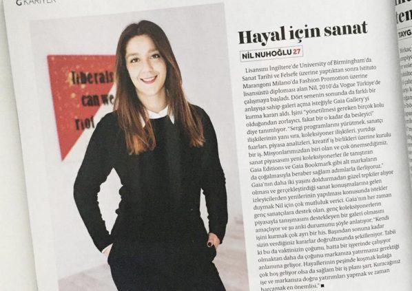 Nil Nuhoğlu Glamour Türkiye'de
