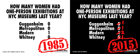 Guerrilla Girls - Museums 1985-2015
